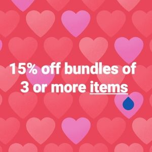 15% off three or more items